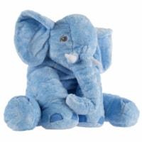 Blue Elephant Stuffed Animal Pillow Kids Adults Huggable Toddler Kids Friend - 1 unit