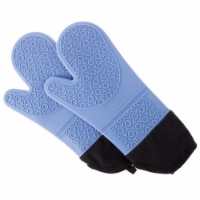 Bedford Home 69A-64445 Silicone Oven Mitts - Blue - 1