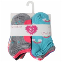 Capelli Sport Youth Girls Unicorn No Show Socks - 20 Pack