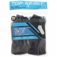 Top Spirit Men's Full Comfort Low Cut Socks - Black/White - 5 Pack