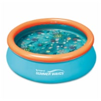 Summer Waves 8ft x 30in Kiddie Inflatable Above Ground Pool (No Pump Included) - 1 Piece