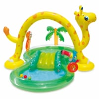 Summer Waves 8.5ft x 6.3ft x 50in Inflatable Kiddie Pool Play Center with Slide - 1 Piece