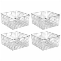 mDesign Metal Wire Food Storage Organizer Bin - 4