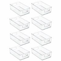 mDesign Plastic Kitchen Food Storage Organizer Bin - 8 Pack - 8