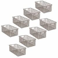 mDesign Metal Wire Food Organizer Basket