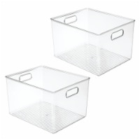 mDesign Storage Organizer Bin with Handles for Cube Furniture, 2 Pack - 2