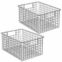 mDesign Metal Wire Food Storage Organizer Bin - 2