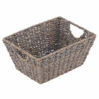 mDesign Woven Seagrass Nesting Kitchen Storage Basket Bins - 2