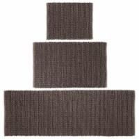 mDesign Soft Cotton Spa Mat Rug for Bathroom, Varied Sizes, Set of 3 - Brown