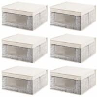 mDesign Fabric Closet Storage Organizer Box, Medium, 6 Pack - 6