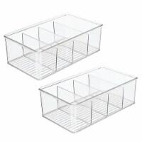 mDesign Plastic Kitchen Pantry Food Storage Organizer Bin, 2 Pack