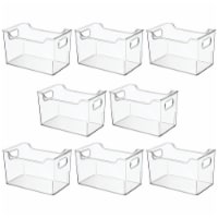 mDesign Plastic Storage Bin for Art and Craft Supplies, 8 Pack - Clear - 8