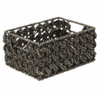mDesign Woven Seagrass Kitchen Pantry Storage Basket