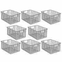 mDesign Metal Storage Basket Bin with Handles for Closets, 8 Pack - 8