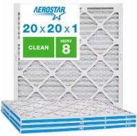 Aerostar 20x20x1 MERV  8, Clean Air Filter, Box of 4 - 20x20x1