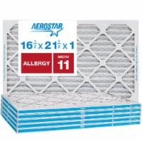 Aerostar 16 1/2x21 1/2x1 MERV  11, Allergy Air Filter, Box of 4 - 16 1/2x21 1/2x1