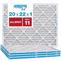 Aerostar 20x22x1 MERV  11, Allergy Air Filter, Box of 4 - 20x22x1