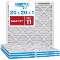Aerostar 20x20x1 MERV  11, Allergy Air Filter, Box of 4 - 20x20x1