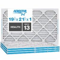 Aerostar 19 7/8x21 1/2x1 MERV  13, Health Air Filter, Box of 4