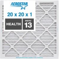Aerostar 20x20x1 MERV  13, Health Air Filter, Box of 4 - 20x20x1