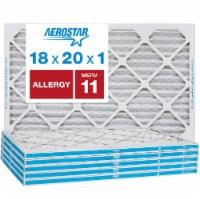 Aerostar 18x20x1 MERV  11, Allergy Air Filter, Box of 6 - 18x20x1