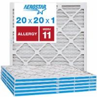 Aerostar 20x20x1 MERV  11, Allergy Air Filter, Box of 6 - 20x20x1