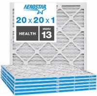 Aerostar 20x20x1 MERV  13, Health Air Filter, Box of 6 - 20x20x1