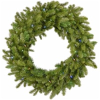 Grandland Artificial Wreath with Lights - 48 in