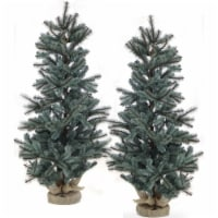 Fraser Hill Farm Heritage Pine Artificial Trees - Set of 2
