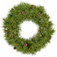 Artificial Holiday Wreath with Lights - 36 in