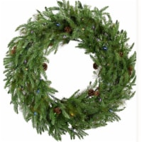 Fraser Hill Farm Artifical Wreath with Multi Color Lights