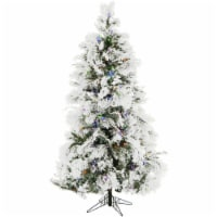 Christmas Time Artificial Christmas Tree with Multi-Color LED String Lighting