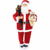 Fraser Hill Farm Dancing Santa with Teddy Bear
