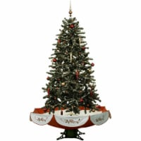 Fraser Hill Farm Let It Snow Musical Artificial Christmas Tree with LED String Lighting
