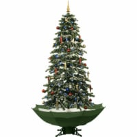 Fraser Hill Farm Let It Snow Musical Artificial Christmas Tree with White LED String Lighting