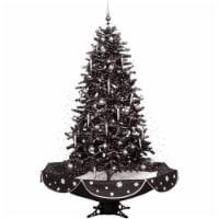 Fraser Hill Farm Musical Christmas Tree - Black/Silver