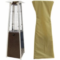 Hanover Mini Pyramid Tabletop Propane Patio Heater with Cover - Hammered Bronze