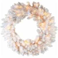 Fraser Hill Farm Decor Wreath with Twinkle Lights