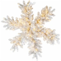 Fraser Hill Farm Icy Fir Snowflake with Pure White LED Lights