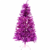 Fraser Hill Farm Festive Tinsel Christmas Tree - Pink