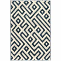 Hanover Indoor/Outdoor Greek Key Rug - Royal Blue/White