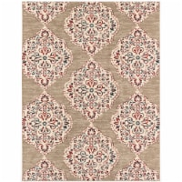 Hanover Indoor/Outdppe Ikat Rug - Tan/Red