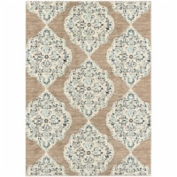 Hanover Indoor/Outdoor Ikat Rug - Tan/Blue
