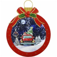 Fraser Hill Farm Let It Snow Christmas Ball Shadowbox - Red