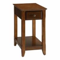 Benjara 22  Transitional Style Wood Smart Looking Side Table in Walnut - 1