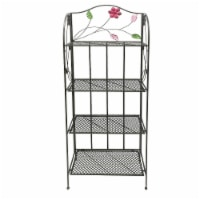 Benzara 4-Tier Metal Foldable Bakers Rack - Black