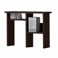 Benzara Open Shelf Wooden Computer Hutch - Espresso Brown