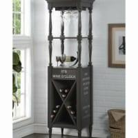 Benzara BM184775 Wooden Wine Cabinet with Spacious Wine Bottle Holder, Gray - 73 x 18 x 20 in