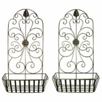 Metal Wall Decor Set - Gray