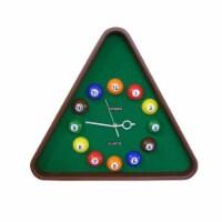 Saltoro Sherpi Pool Theme Triangular Shape Plastic Clock, Multicolor - 1 unit